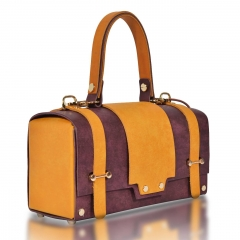 RAIKOU Vegetable-tanned leather box bag