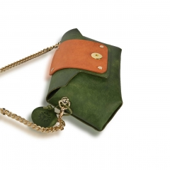 RAIKOU Vegetable-tanned leather cross-body bag