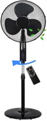 RAIKOU Stand fan 50 watts Ø 41cm | Remote control | Oscillating fan | 4H Timer | Wind Machine | Air Conditioner | Tower fan | Fan quiet | Floor fan | Air cooler |